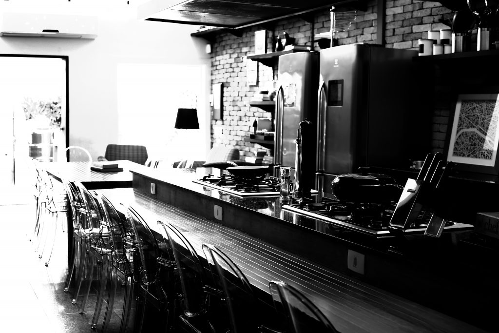 Black and White - Cozinha - Open Kitchen